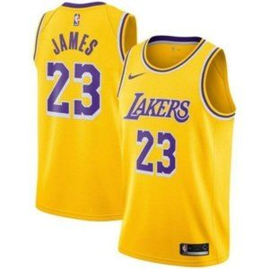 Los Angeles Lakers LeBron James Gold Jersey